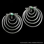 Vintage Hector Aguilar Turquoise & 940 Sterling Earrings c.1948-55