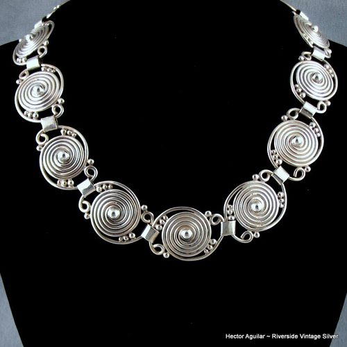 Hector Aguiar 940 Sterling Silver Necklace c.1955-62