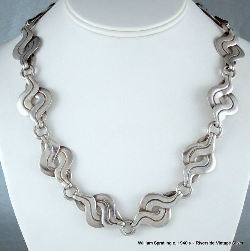 William Spratling Necklace Sterling Silver c. 1940