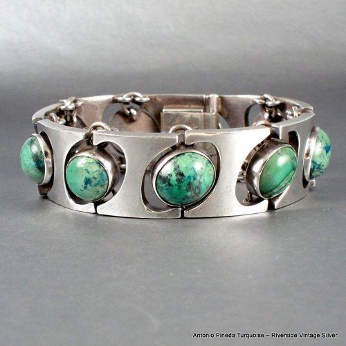 Antonio Pineda Turquoise & 970 Sterling Silver Bracelet
