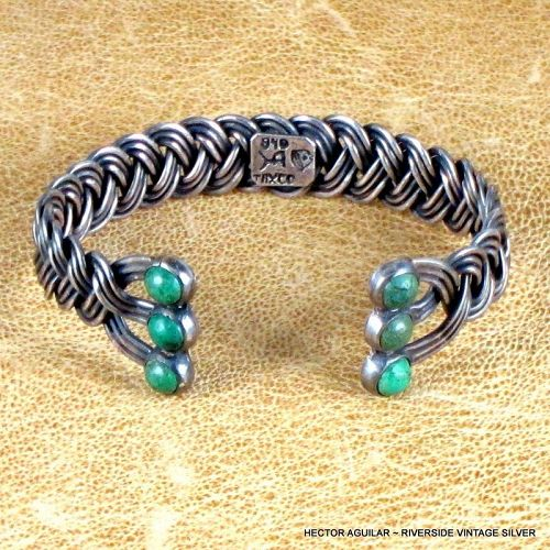 Hector Aguilar 940 Sterling Silver Braided Bracelet c. 1955-62