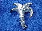 Vintage Fred Davis Sterling Silver Palm Tree Pin