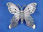 Vintage HECTOR AGUILAR Silver Butterfly Pin