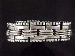 Vintage Hector Aguilar Mexican Silver Bracelet - Taxco