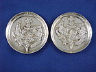 Pair  William Spratling Quetzalcotal Silver Pin Trays