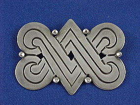 Vintage 1940's HECTOR AGUILAR Sterling Silver Pin