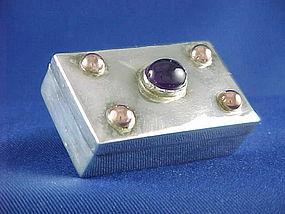 Frederick Fred Davis Silver Amethyst & Copper Box