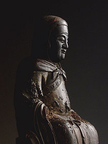 A Wood Seated Lohan of Ming Dynasty,1368-1644