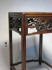 A Suanzhi Wood Table Stand of Qing Dynasty.