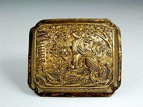 A Gilt Silver Plaque of Ming Dynasty,1368-1644