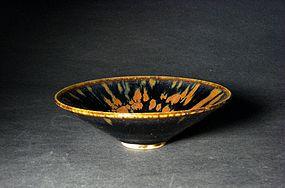 A Conical Cizhou Tea Bowl of Jin Dynasty, 12th/13th C.