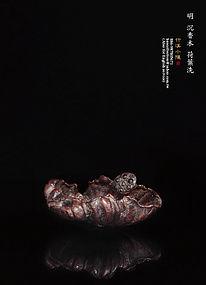 A Precious Agalloch Water Basin of Ming Dynasty
