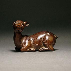 A Wood Deer of Qing Dynasty