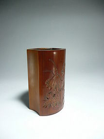 A Bamboo Brush Pot of Qing Dynasty.