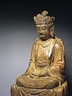 A Decent Wood Bodhisattva of Ming Dynasty