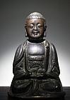 A Fine Bronze Buddha of Ming Dynasty