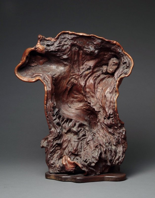 A Male Torso from Natural Wood.