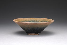 A Very Fine Jianyang Conical Bowl in Hares-Fur Glaze