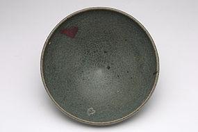 A Unique Green-Glazed Junyao Big Bowl of Yuan Dynasty