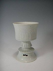 A Beautiful Yinqing Stem Censer of Song Dynasty