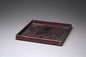 A Rectangular Scholar Tray of Mid Qing Periods.