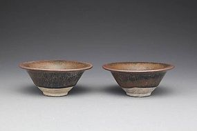 A Pair of Jianyang Tea Bowl of Song Dynasty