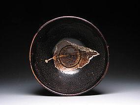 A  Jizhou Bowl of Song Dynasty With Leaf Motif