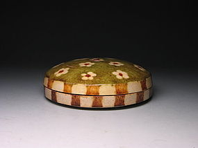 A Beautiful San-Cai Glazed Box of Tang Dynasty