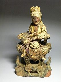 A Beautiful Wood Figure of Qing Dynasty
