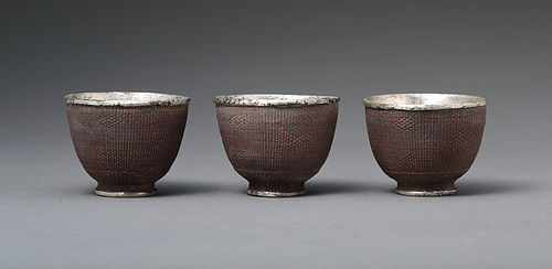 Chinese Silver Wine Cup of Qing Dynasty