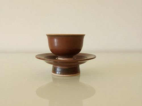 One Nice  Cup Set in Persimmon Glaze .