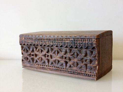 A Wood  Box in Beautiful Carved Pattern