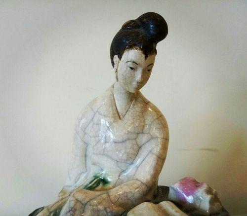 A XI�Wan Ceramic Doll of 19th Century.