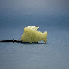 A Rare Jade Fish with Wings of Liao Dynasty