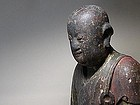 A Grand Wood Sculpture of Louhan of Ming Dynasty