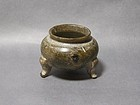 A Tripod Steatite Censer of Tang Dynasty (AD618-906)