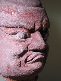 A Magnificent Stone Head of Louhan of 13th Century