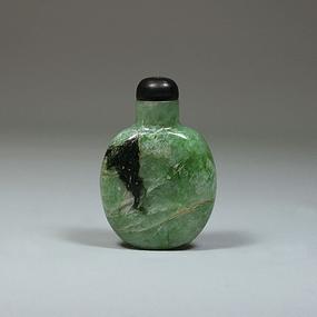 An 18th Century  Jadeite Snuff Bottle from Excavation