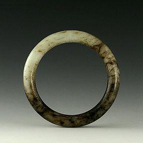A Charming White Jade Bracelet of Ming Dynasty