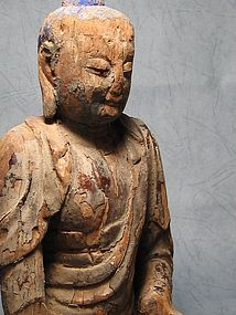 An Ancient Wooden Buddha of 13th Century.