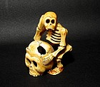 An Intriguing Ivory Skull Piece of 18/19th Century