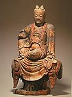 A Magnificent Wood Figure of Yuan Dynasty