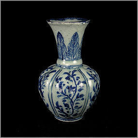 A Blue and White Vase in Beautiful Motifs