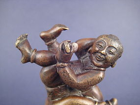 A Joyful Bronze Paper Weight of Qing Dynasty