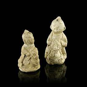 A Pair of Cizhou Dolls of Song Dynasty