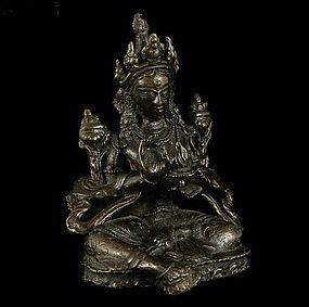 One Tibet Bronze Tara of 14th/15th Century