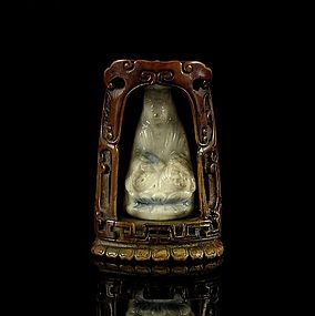 A Charming Ivory Niche of Ming Dynasty