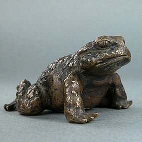 A Finely Cast Toad Bronze Weight of 18th/19th century