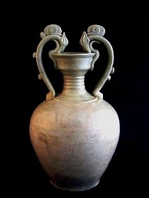 A Grand Dragon-Handled Amphora of Tang Dynasty(618-907)