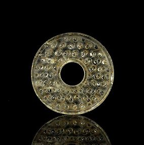 An Archaic Crystal Bi of Han Dynasty(206BC--)